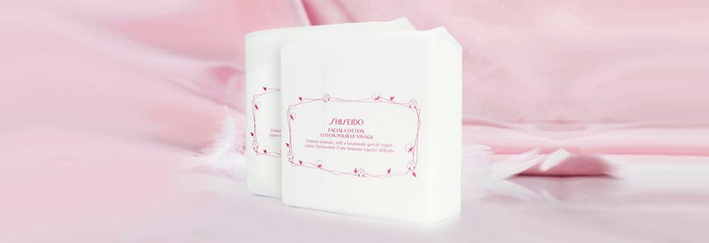 [แพ็คคู่] Shiseido Facial Cotton [165 Sheets x 2pcs]