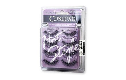 Cosluxe Wanderlust Eyelashes With Free Lash Adhesive Pack 4pairs #Special Artz 4-04
