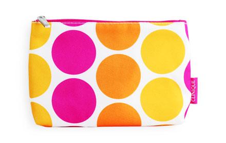Clinique Polka Dot Cosmetic Bag