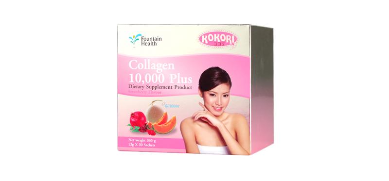 Kokori Collagen 10,000 Plus Dietary Supplement Product (30 Sachets x 1 Boxes)