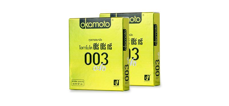 Okamoto Zero Zero Three Aloe Condom 52mm (2pcsx2boxes)