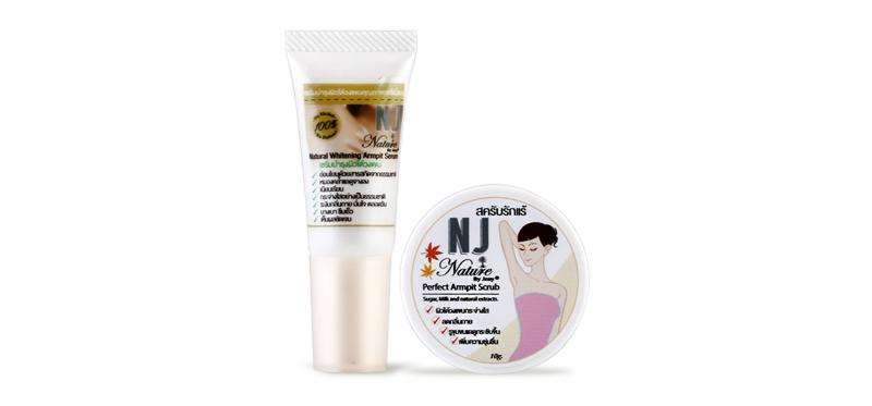 Set NJ Nature Armpit Serum 5ml & Scrub 10g