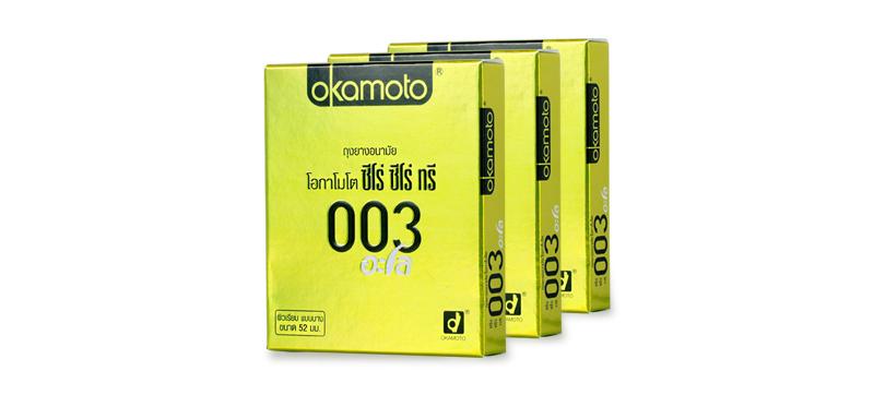 Okamoto Zero Zero Three Aloe Condom 52mm (2pcsx3boxes)