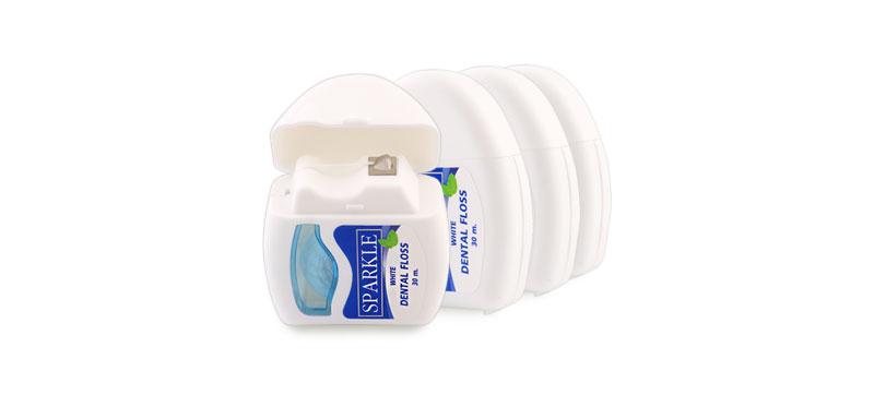 [แพ็คสี่] Sparkle White Dental Floss Set [SK0059 x4pcs]