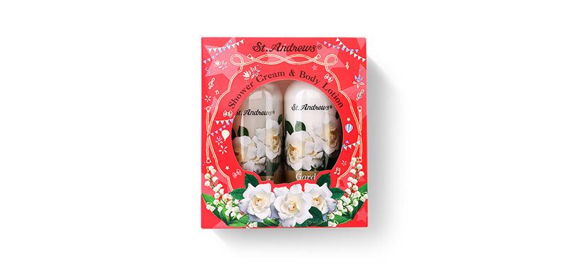 St.Andrews Happiness Gift Set 2 Items (Shower Cream Gardenia 250ml + Body Lotion Gardenia 250ml)