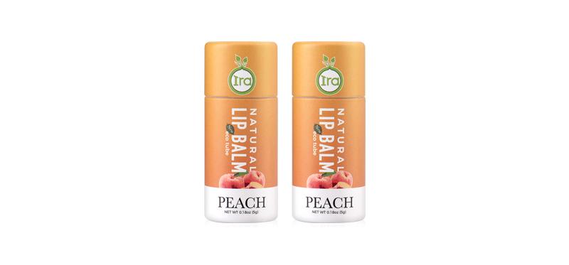 [แพ็คคู่] IRA eco tube Natural Lip Balm Peach [7g x 2pcs] ( สินค้าหมดอายุ : 2022.06 )