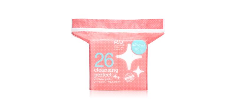 Rii 26 Cleans Perfect Cotton Pads 180pcs (Refill)
