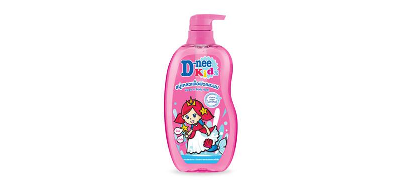 D-nee Kids Head & Body Bath 400ml (Pump) #Pink