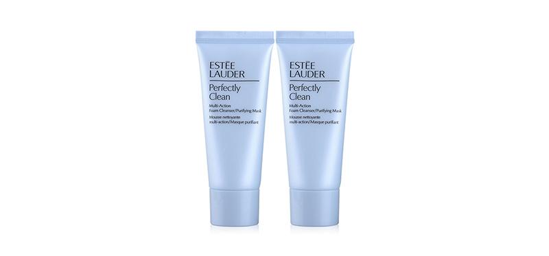 [แพ็คคู่] Estee Lauder Perfectly Clean Multi-Action Foam Cleanser/Purifying Mask [30ml x 2pcs]