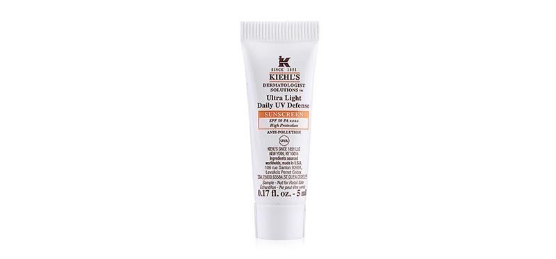 Kiehl's Ultra Light Daily UV Defense SUNSCREEN SPF 50 PA ++++ High Porotection UVA 5ml