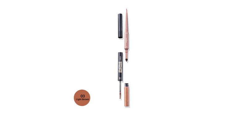 Mee Draw 2 Dip 3IN1 Eyebrow Kits #03 Light Brown