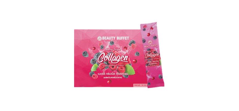 Beauty Buffet Berry Triple Collagen 15000 Mg 10pcs (ฺBox)