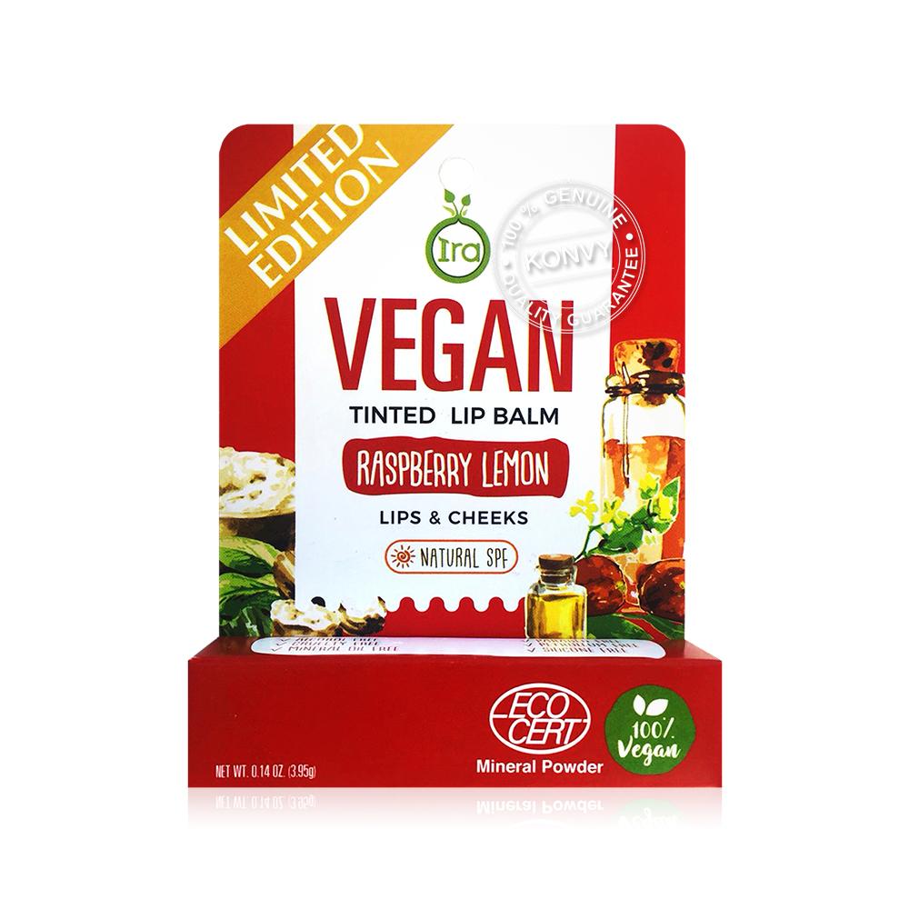 IRA eco tube Vegan Tinted Lip Balm Raspberry Lemon 3.95g