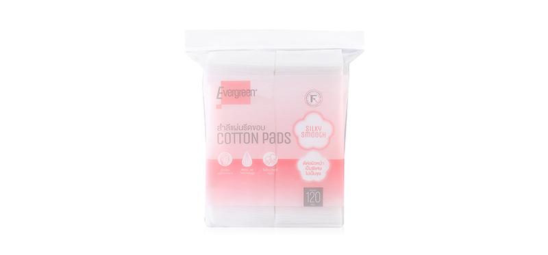 Evergreen Cotton Pad Silky Smooth 120 pcs