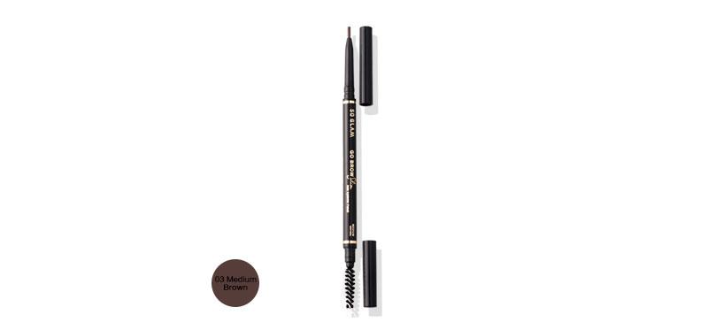 So Glam Go Brow Slim Slim Eyebrow Pencil 0.27g #03 Medium Brown