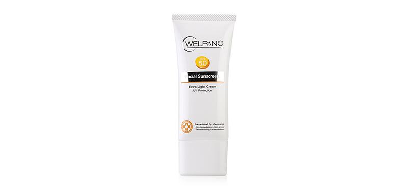 Welpano Facial Sunscreen Extra Light Cream UV Protection SPF50/PA+++ 30g