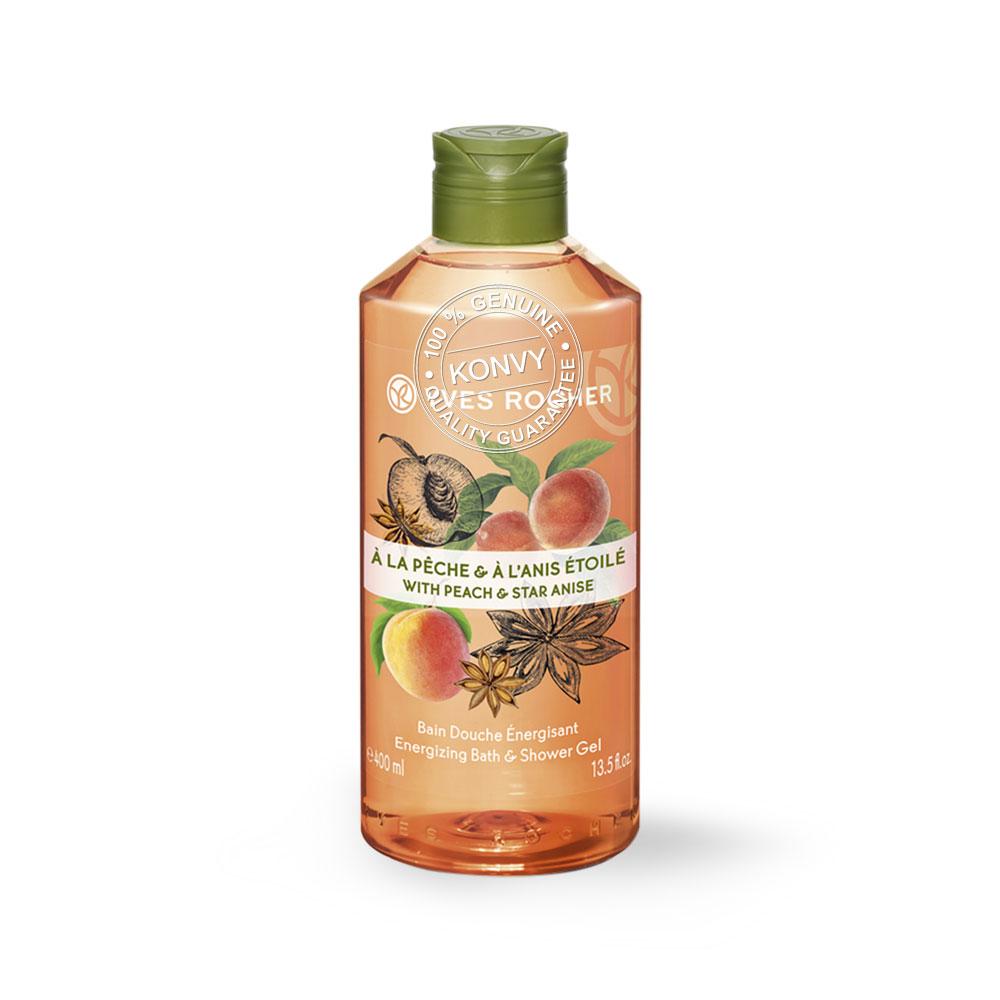 Yves Rocher Energizing Peach Star Anise Shower Gel 400ml