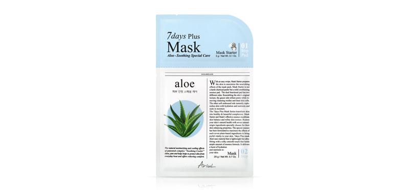 Ariul 7 Days Plus Mask Aloe 23g ( สินค้าหมดอายุ : 2022.06 )