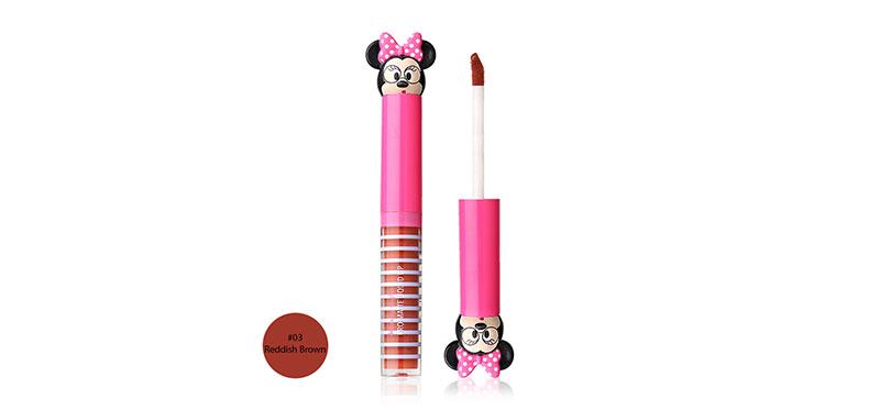 U-Star Minnie Beauty Nista Pro Matte Liquid Lip 3g #03 Reddish Brown