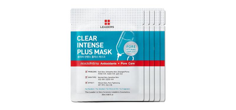 [แพ็คห้า] Leaders Clear Intense Plus Mask (25ml x 5pcs)