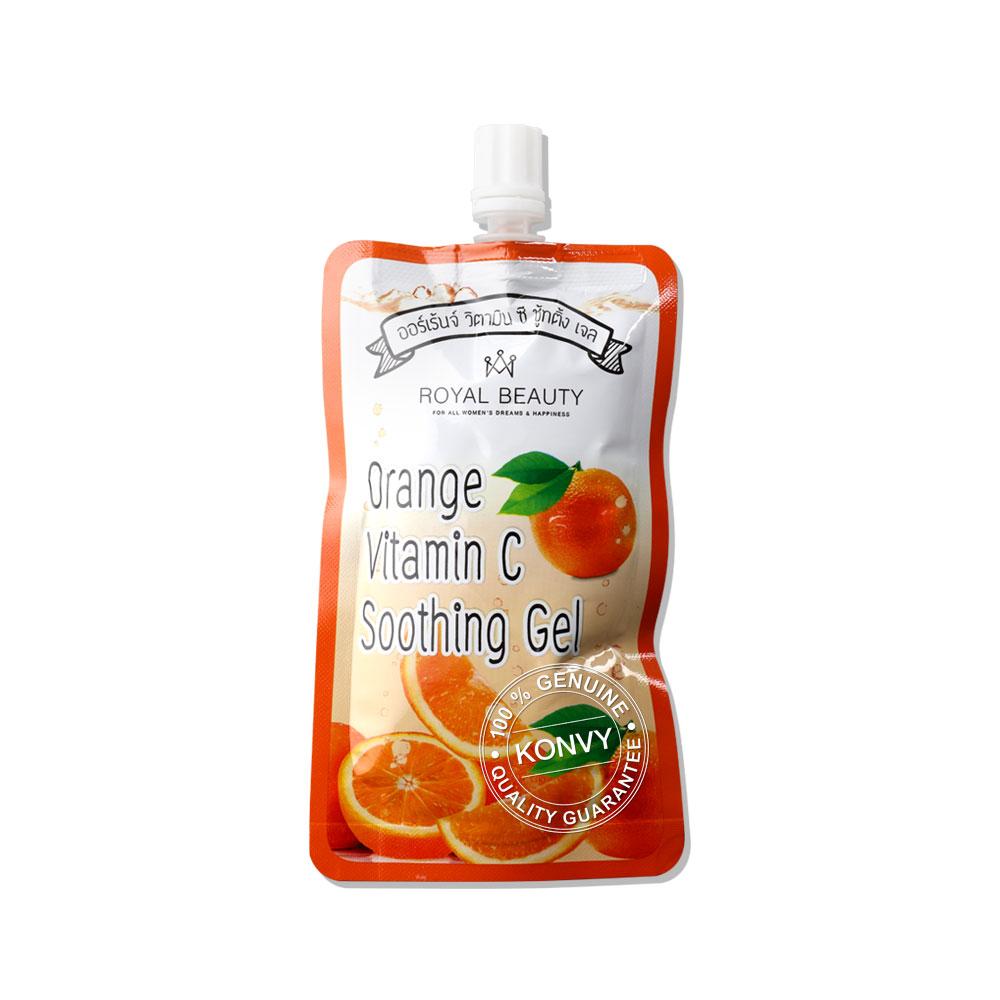 Royal Beauty Orange Vitamin C Soothing Gel (40g x 4pcs) ( สินค้าหมดอายุ : 2022.02 )