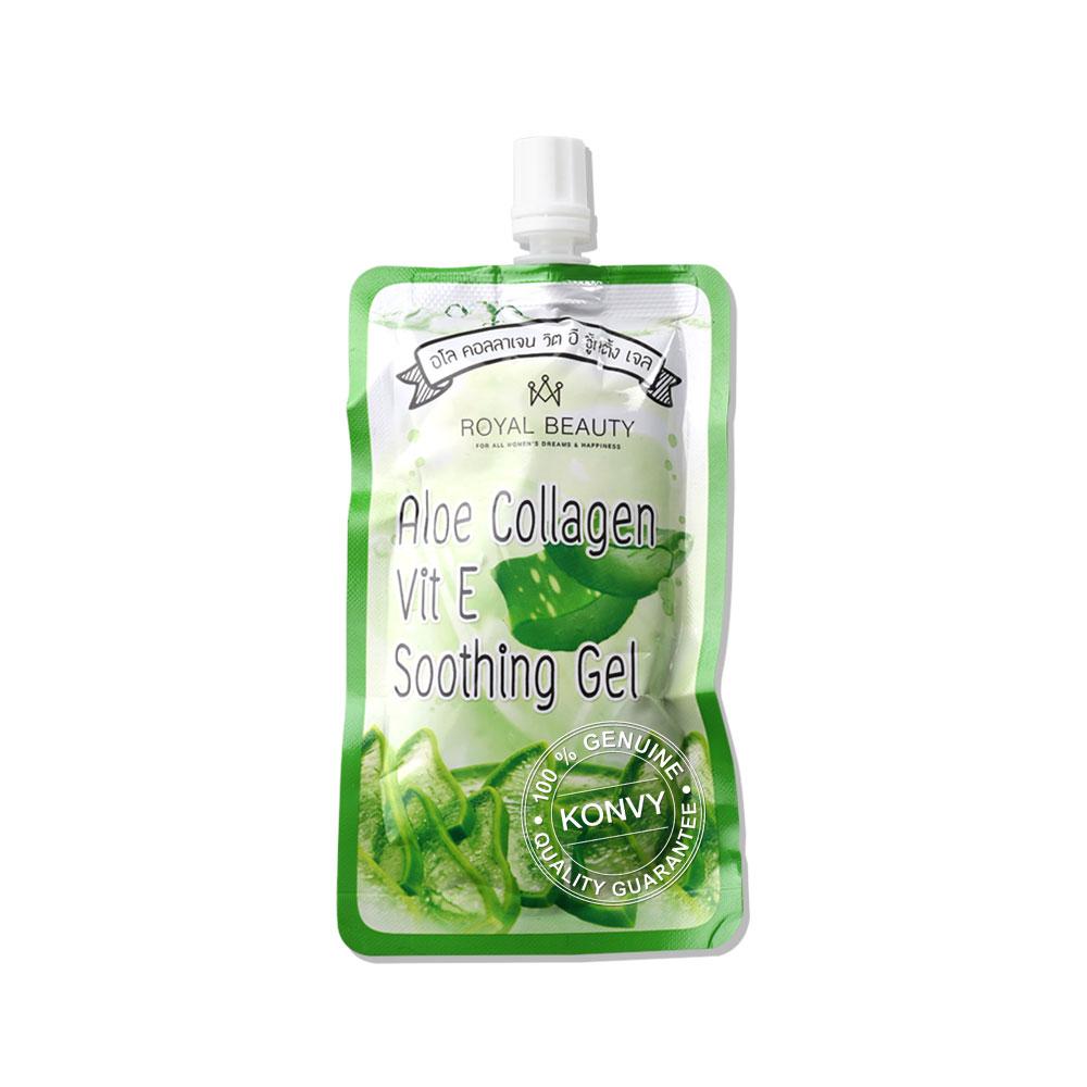 Royal Beauty Aloe Collagen Vit E Soothing Gel (40g x 4pcs) ( สินค้าหมดอายุ : 2022.03 )