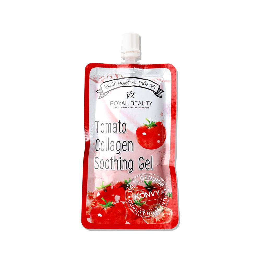 Royal Beauty Tomato Collagen Soothing Gel (40g x 4pcs) ( สินค้าหมดอายุ : 2022.04 )