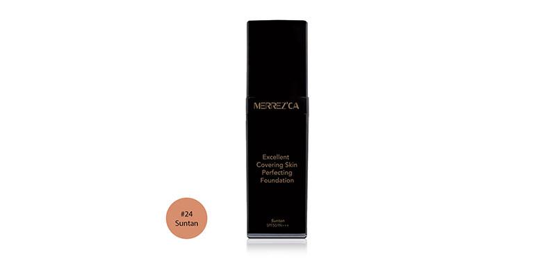 Merrez'ca Excellent Covering Skin Perfecting Foundation SPF50/PA+++ 30ml #24 Suntan ( สินค้าหมดอายุ : 2022.06 )