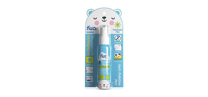 Kanda Fragrance Free Anti-Pollution and UV Mist 45ml