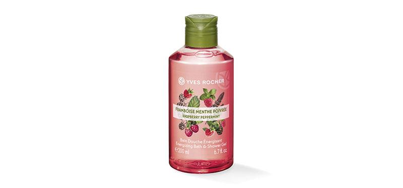 Yves Rocher Energizing Raspberry Peppermint Shower Gel 200ml