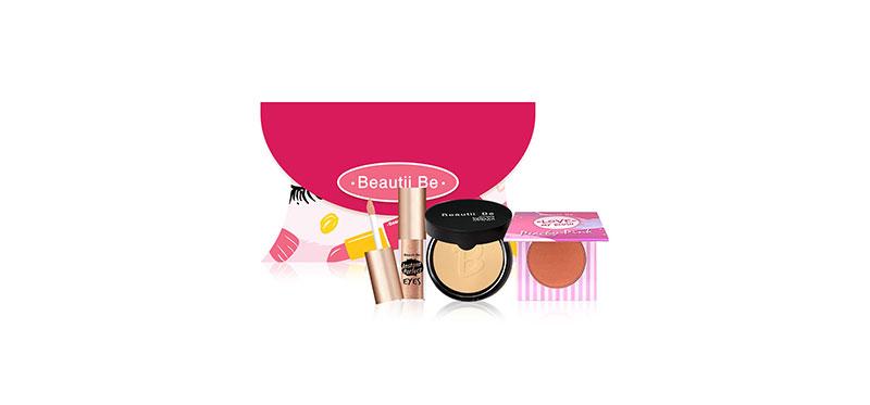 Beautii Be Set 3 Items Gift Box Blush on Love My Blush 9g #01 + Tanaka Powder 11g #T2 + Liquid Eyeshadow 1.5ml #05 ( สินค้าหมดอายุ : 2022.01 )