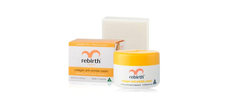Rebirth Collagen Anti-Wrinkle Cream 100ml (Free! Goat Milk Soap 100ml) ( สินค้าหมดอายุ : 2022.01 )
