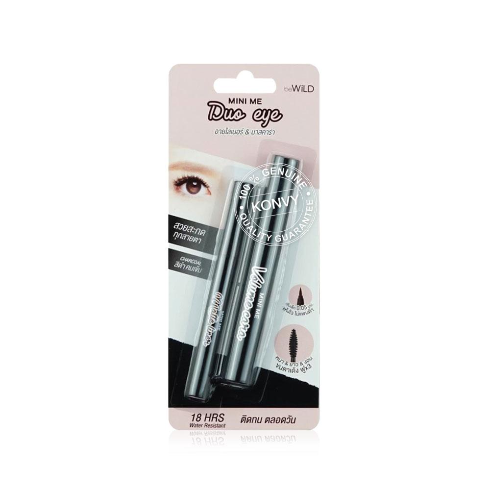 beWiLD Duo Eye Matte Liner & Volume Cara #01 Charcoal