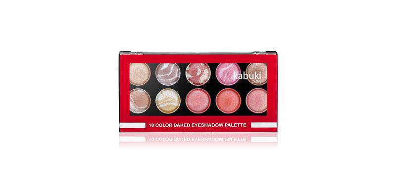 Kabuki 10 Color Baked Eyeshadow Palette 18g #01