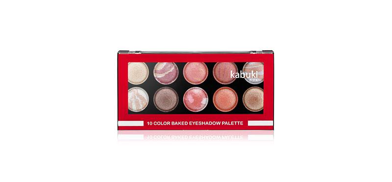 Kabuki 10 Color Baked Eyeshadow Palette 18g #02