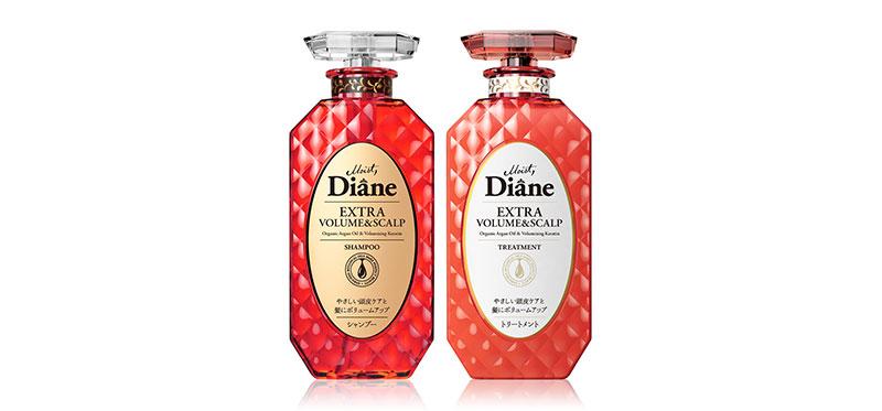 Moist Diane Set 2 Items Extra Volume & Scalp Shampoo 450ml + Treatment 450ml