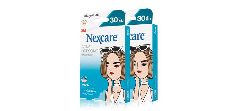 [แพ็คคู่] 3M Nexcare Acne Dressing Thin Version size 0.8cm [30pcs x2]