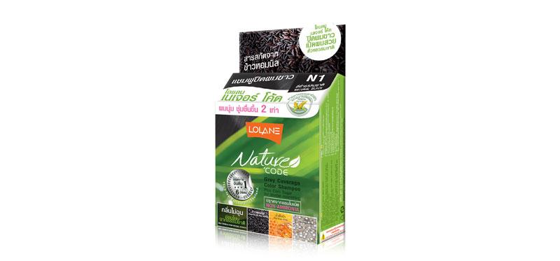 Lolane Nature Code Color Shampoo 10ml #N1 Natural Black