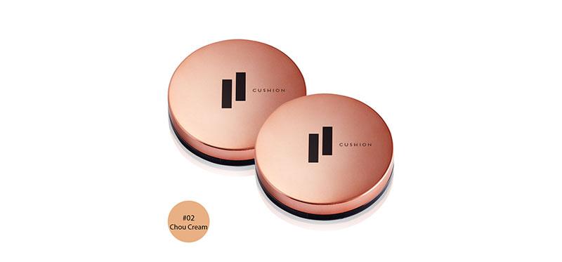 [แพ็คคู่] FIIT Everyday Cushion Healthy Glow SPF50+/PA+++ #02 Chou Cream (13g x 2pcs)