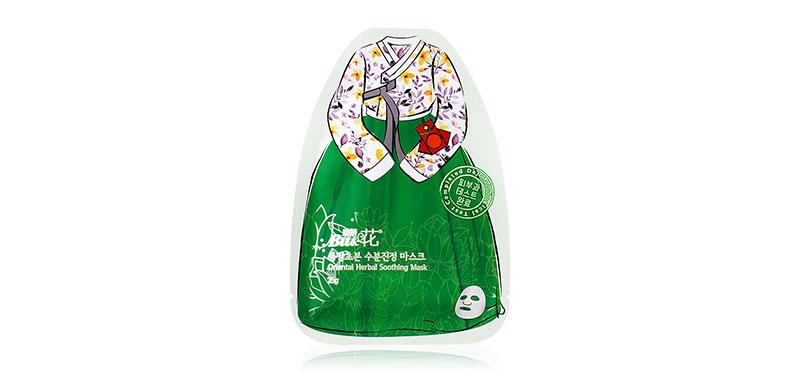 BU & HWA Oriental Herbal Soothing Mask 25g ( สินค้าหมดอายุ : 2022.04 )