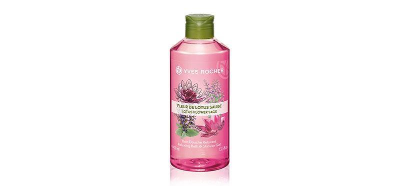 Yves Rocher Relaxing Lotus Flower Sage Shower Gel 400ml