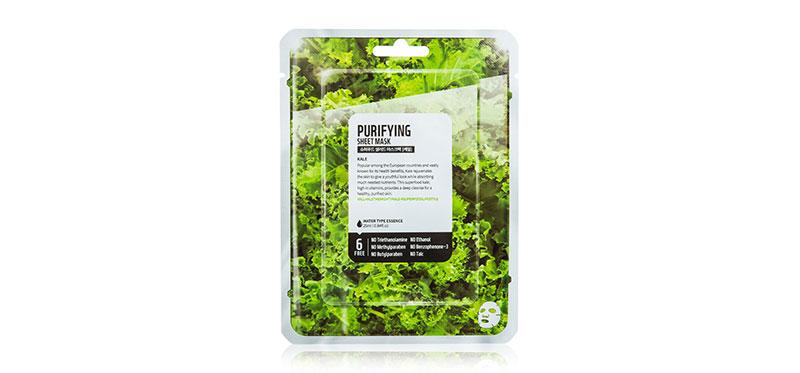 FARM SKIN Superfood Salad Facial Kale Sheet Mask 25ml