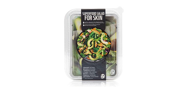 FARM SKIN Superfood Salad Facial Avocado Sheet Mask Set [25ml x 7pcs] ( สินค้าหมดอายุ : 2022.07 )