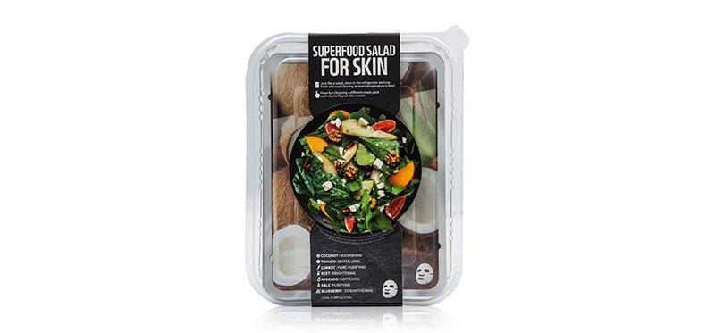 FARM SKIN Superfood Salad Facial Coconut Sheet Mask Set [25ml x 7pcs] ( สินค้าหมดอายุ : 2022.02 )