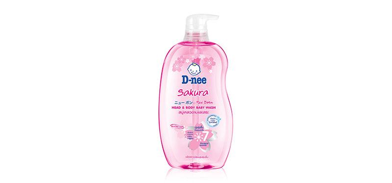 D-nee Sakura For Newborn Head & Body Baby Wash  800ml