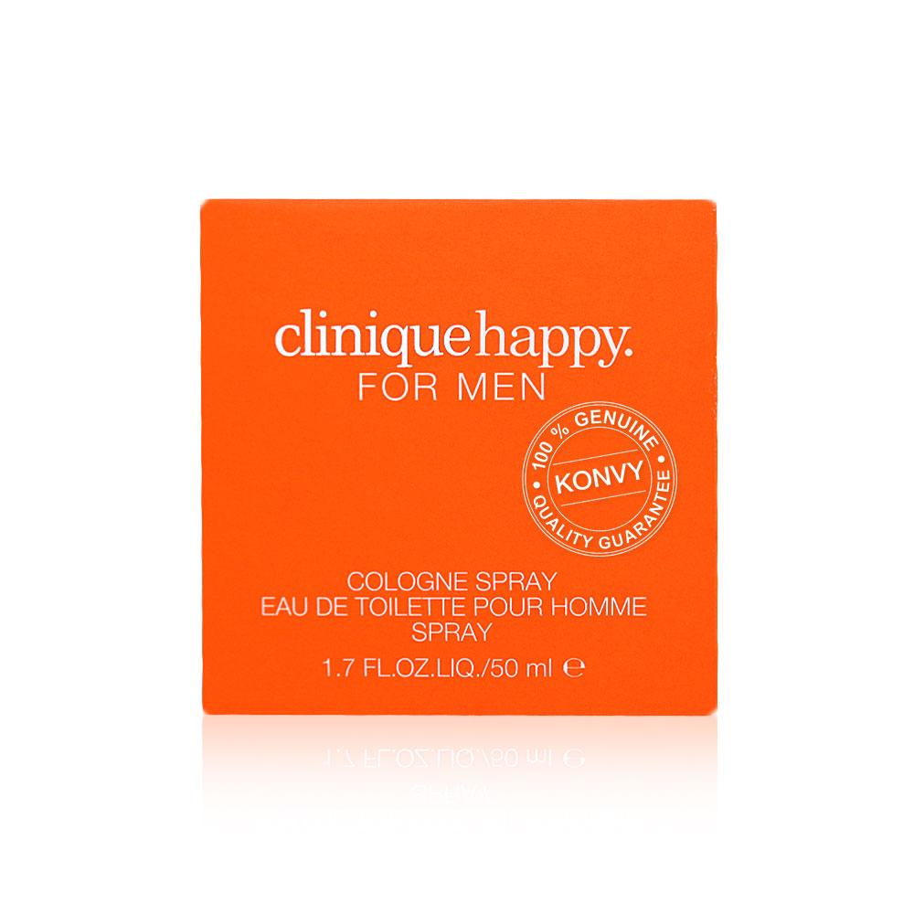 Clinique Happy For Men Cologne Spray Eau De Toilette Pour Homme 50ml