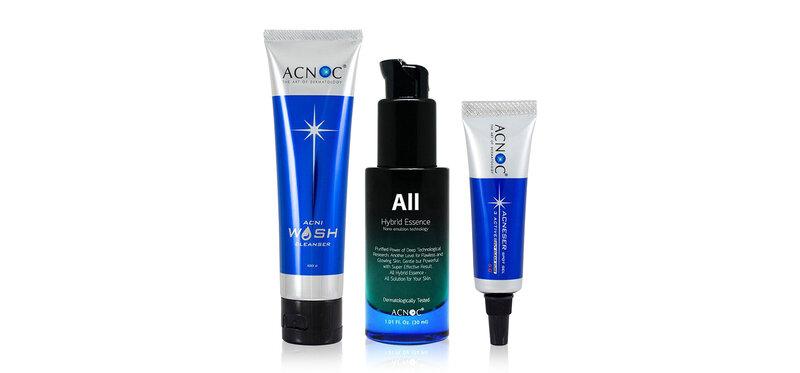 Acnoc Set 3 Items All Hybrid Essence 30ml + Cleanser 100g + Spot Gel 5g
