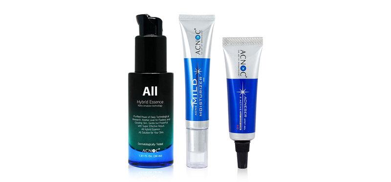Acnoc Set 3 Items All Hybrid Essence 30ml + Mild Moisturizer 40g + Spot Gel 5g
