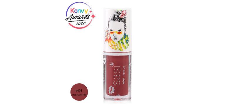 SASI Xoxo Liquid Lip 3g #401 Irresistable Red