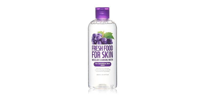 FARM SKIN Fresh Food For Skin Micellar Cleansing Water For Sensitive Skin Grape 300ml